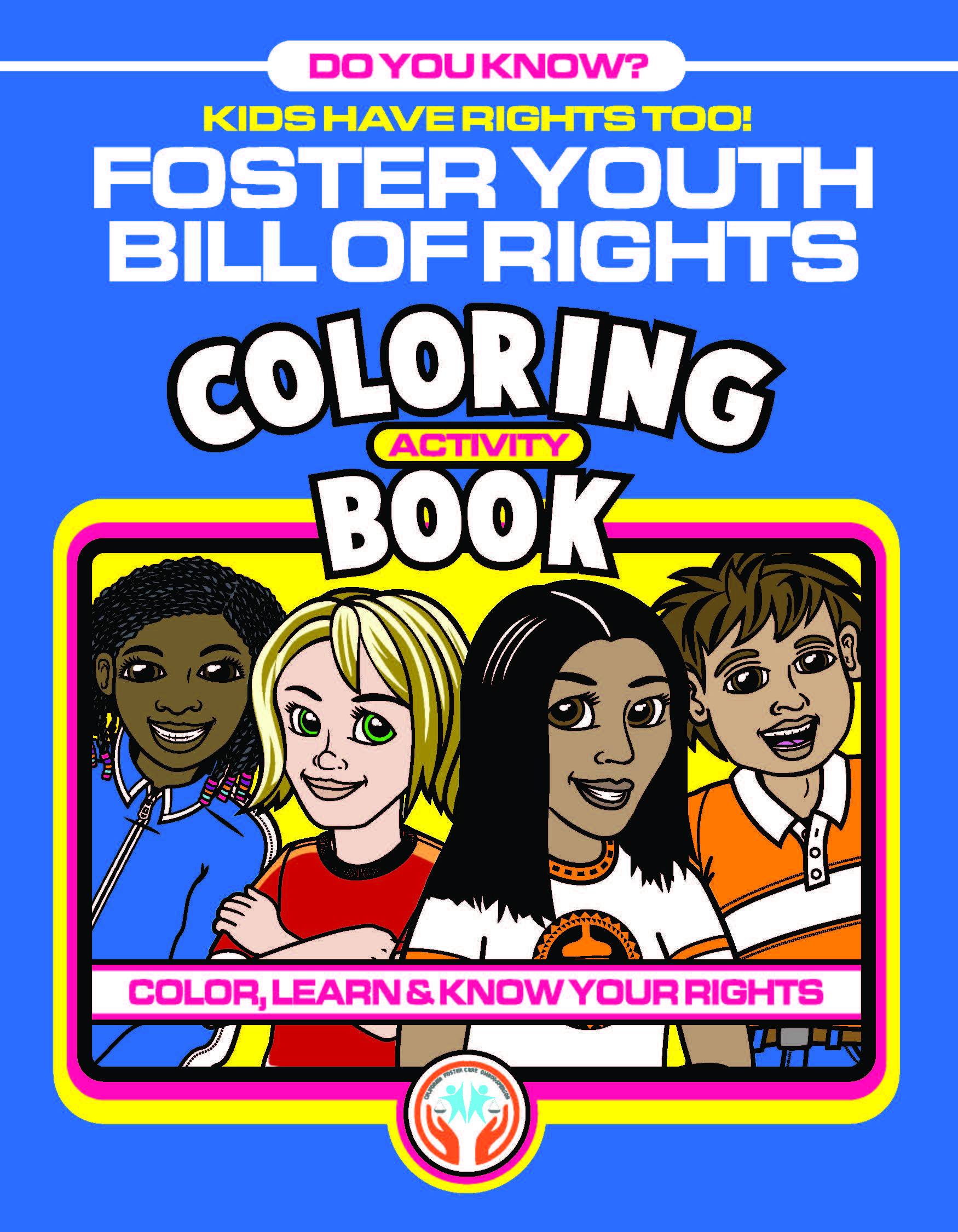 Image of the Foster Youth Bill of Rights Coloring Book